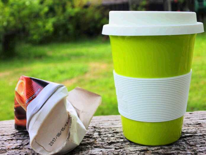 Drinking from reusable cups
